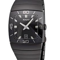 Rado Sintra Mens XXL Watch  Black Dial Platinum Tone Ceramic