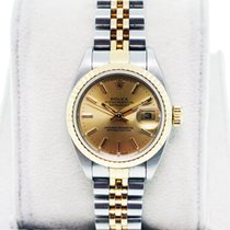 Rolex Datejust 79173 Two Tone Champagne Dial on Jubilee Bracelet