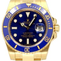 Rolex Submariner 116618LB Blue Ceramic 18k Yellow Gold 40mm...