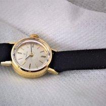Omega vintage 14ct solid golden Omega, serviced with Omega strap