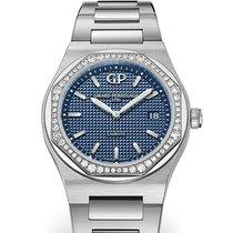 Girard Perregaux LAUREATO 34mm Steel Dial Blue Strap Steel...