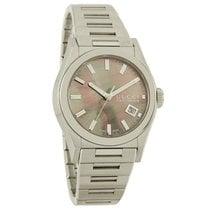 Gucci 115 Pantheon Bronze MOP Date Swiss Quartz Watch YA115401