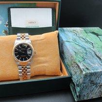 Rolex DATEJUST 16013 2-Tone SS/18k Gold ORIGINAL Black Dial...