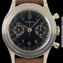 Longines 13zn Vintage Chronograph Steel Black Dial