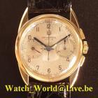 宇宙 (Universal Genève) Rare and fine 18ct gold (year 1936)...