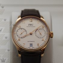 IWC IW500701 Portugieser White Dial 18 Carat Red Gold