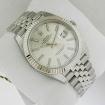 Rolex Oyster DATEJUST 41mm Stainless Steel 126334 Silver Dial...