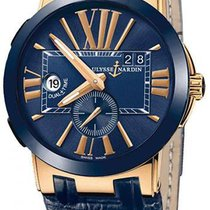 Ulysse Nardin UN Executive Dual Time Blue with Gold Buckle