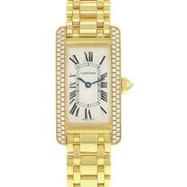 Cartier WB7043JQ Tank Americaine Ladies Quartz in Yellow Gold...