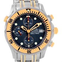 Omega Seamaster Titanium 18k Yellow Gold Blue Dial Watch...