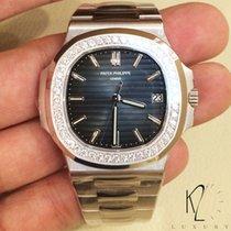 Patek Philippe 5713/1G Nautilus in White Gold & Diamond Bezel