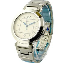 Cartier W31072M7 Pasha in Steel - on Bracelet with Silver dial