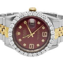 Rolex Datejust 2 Tone 36MM 18K Stainless Steel Custom Dial...