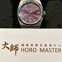 Rolex Horomaster- Oyster Perpetual Red grape/Steel 36mm 116000