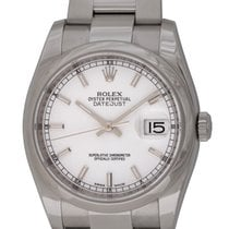 Rolex - Datejust : 116200 white dial on Heavy Oyster bracelet...