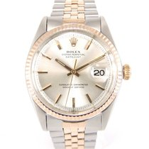 Rolex Rare Datejust 36 vintage 1600 Rose Gold and Steel