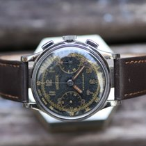 Angelus vintage 35,5mm chronograph with Gilt dial and hands...