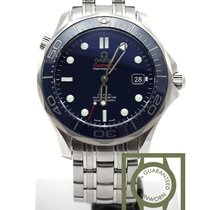 Omega Seamaster Diver 300m co-axial 41mm steel blue dial NEW