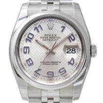 Rolex Oyster Datejust 36 mm Ref. 116200 Jubilé Silber Arabisch