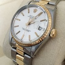 Rolex Oyster Perpetual Date Gold Steel Silver Dial 34 mm (1980)
