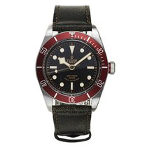 Tudor HERITAGE BLACK BAY Aged Leather Red Bezel Steel 79220 R