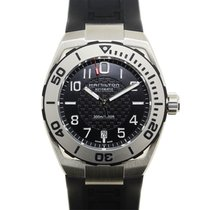 汉米尔顿 (Hamilton) Khaki Navy Sub Stainless Steel Black Automatic...