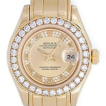 Rolex Ladies Masterpiece/Pearlmaster Gold Watch Myriad Roman...