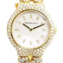 Tiffany and Co L0133 Tissoro in Yellow Gold With Diamond Bezel...