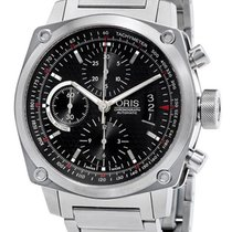 Oris BC4 Chronograph Automatic Steel Mens Watch Date Black...
