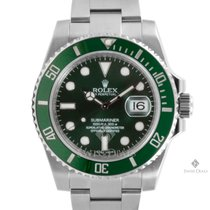 Rolex Submariner Stainless Steel Green Dial Ceramic Green...