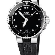 Oris Aquis Date Diamonds, Ceramic Top Ring, Rubber Bracelet