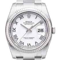Rolex Datejust 36mm Stahl/Weißgold 116234 Weiß