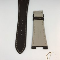 Patek Philippe Nautilus Rubber Strap in Brown with Beige Stitches
