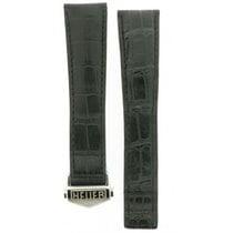 豪雅 (TAG Heuer) -black Deployment Buckle Crocodile Leather Strap