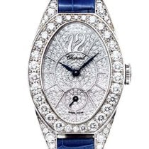 ショパール (Chopard) Classic 18kwg Oval Diamonds NEW 56% off