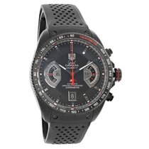 TAG Heuer Grand Carrera Black Swiss Automatic Watch CAV518B.FT...