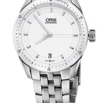 Oris Artix GT Date, Ceramic Top Ring, White Dial, Steel