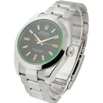 Rolex Used 116400_used Milgauss Green Crystal - Anniversary Model