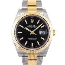 勞力士 (Rolex) Datejust 41 Black/18k gold Oyster 41mm - 126333
