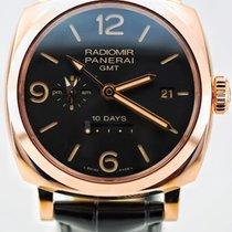 Panerai RADIOMIR 1940 10 DAYS GMT  ORO ROSSO  PAM00625