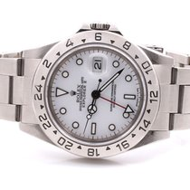 Rolex Mens 16570 Explorer II - White Dial - Oyster Band