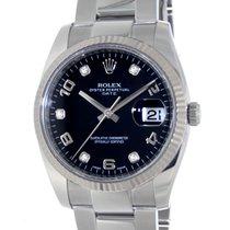 Rolex Date 115234 Steel, Diamonds, 34mm