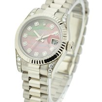 Rolex Unworn 179239 President Lady in White Gold with Fluted...