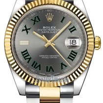 Rolex Datejust 41mm Steel and Yellow Gold 126333 Slate Roman...
