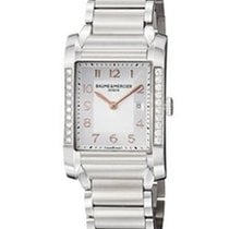 Baume & Mercier Hampton Rectangular Diamonds Silver Dial