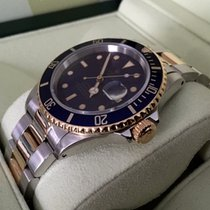 Rolex Oyster Submariner Gold Steel Blue Dial 40 mm (Full Set)