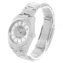 Rolex Datejust Steel White Gold Silver Tuxedo Dial Watch...
