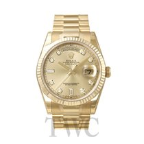 롤렉스 (Rolex) Day-Date Champagne/18k gold Ø36 mm - 118238