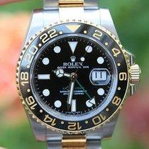 Rolex Mens 40mm Gmt Ii 18k Gold & Steel Ceramic 116713 Box...