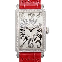 Franck Muller Long Island Stainless Steel With Diamonds Silver...